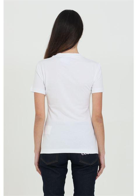 T-shirt donna bianca Versace Jeans Couture manica corta con logo frontale. Modello comodo VERSACE JEANS COUTURE | T-shirt | B2HWA7TA30454003