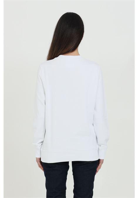 Felpa donna bianca versace jeans couture girocollo con maxi logo frontale nero VERSACE JEANS COUTURE   Felpe   B6HWA7TN30453003