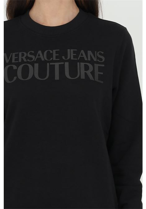 Black sweatshirt with tone on tone logo on the front. Brand: Versace jeans couture VERSACE JEANS COUTURE | Sweatshirt | B6HWA7TN30453899