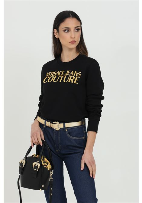 Black sweatshirt with gold embroidered logo on the front. Brand: Versace jeans couture VERSACE JEANS COUTURE | Sweatshirt | B6HWA7TS30318K42