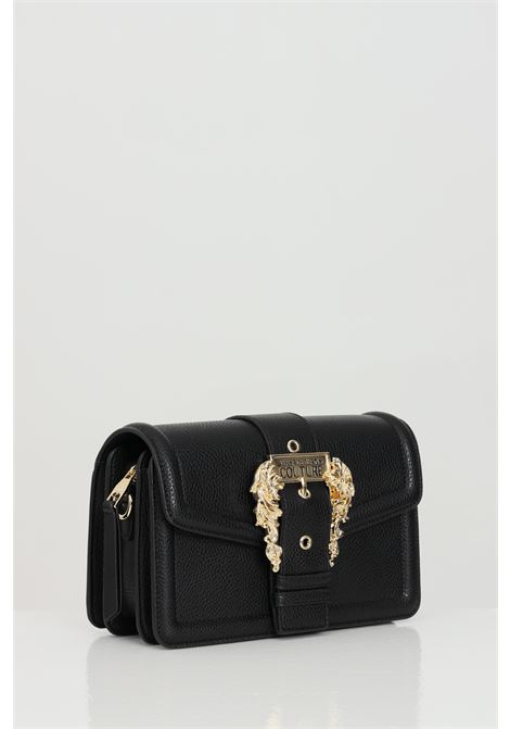 Black bag in solid color with shoulder strap and maxi buckle. Versace jeans couture VERSACE JEANS COUTURE   Bag   E1VWABF171578899