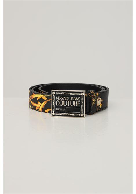 Baroque men's belt by versace jeans couture with logo buckle VERSACE JEANS COUTURE | Belt | E7IYA6F32-EZP056EG89