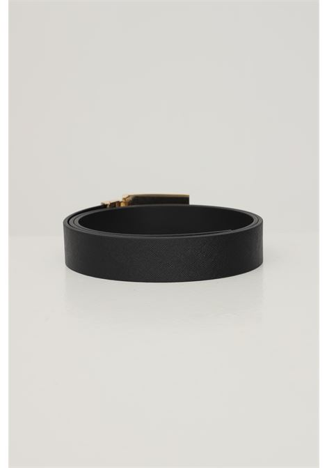 Black men's belt by versace jeans couture, reversible model with gold logo buckle VERSACE JEANS COUTURE | Belt | ED8YWAF32-E71988E899