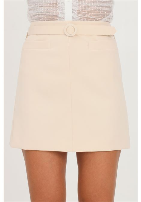 Cream skirt by vicolo short cut with belt at the waist VICOLO | Skirt | TX0061PANNA
