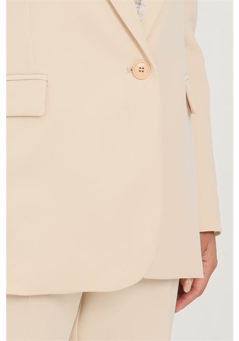 Cream women's jacket by vicolo closure with front button VICOLO | Blazer | TX0135PANNA