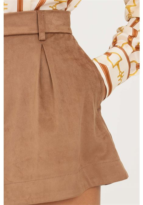 Brown women's shorts by vicolo VICOLO | Shorts | TX0163MARRONE