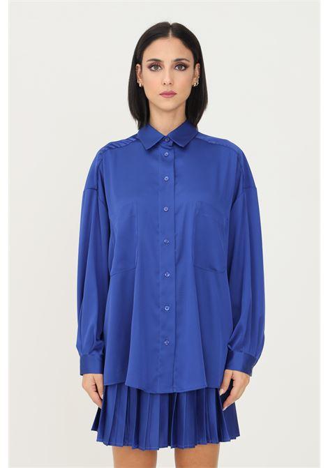 Camicia donna blu vicolo casual modello over VICOLO | Camicie | TX0266BLU