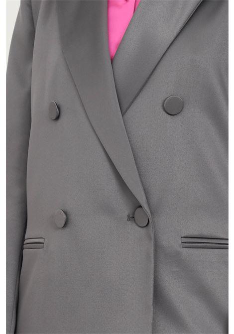Giacca donna grigio vicolo doppiopetto chiusura con bottoni VICOLO | Giacche | TX0371GRIGIO