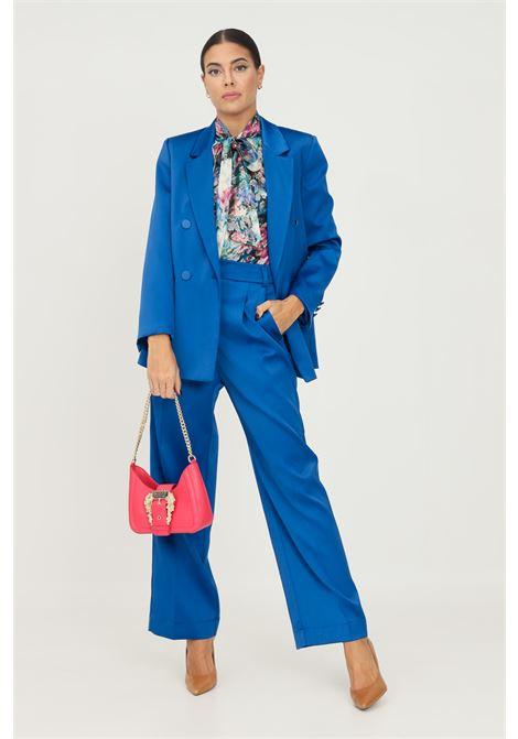 Blue women's trousers by vicolo, elegant model  VICOLO   Pants   TX0372BLU