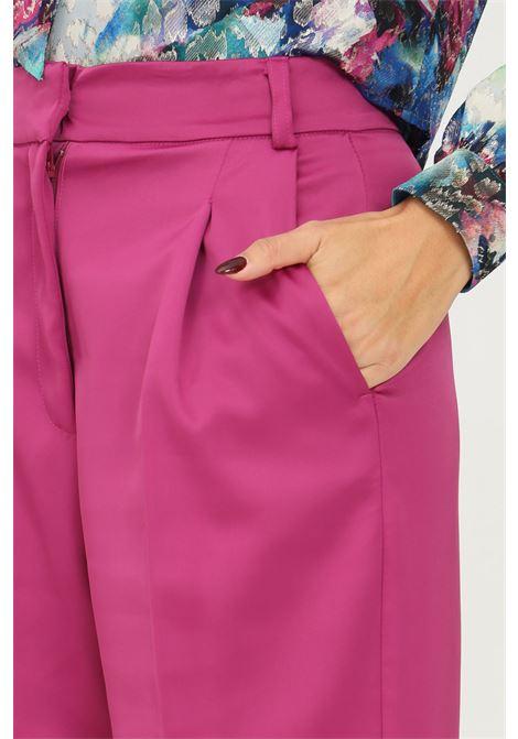 Fucshia women's trousers by vicolo, elegant model  VICOLO   Pants   TX0372CICLAMINO