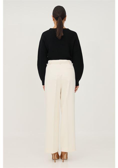 Cream women's trousers by vicolo, elegant model  VICOLO   Pants   TX0372PANNA