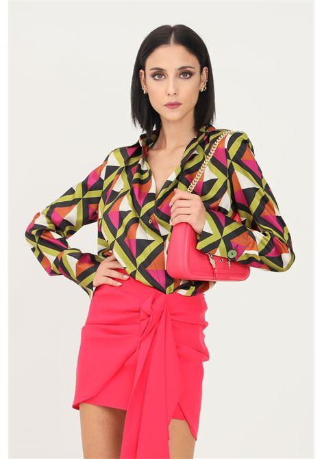 Blusa donna fantasia vicolo con elastico sul fondo VICOLO | Camicie | TX1042FANTASIA