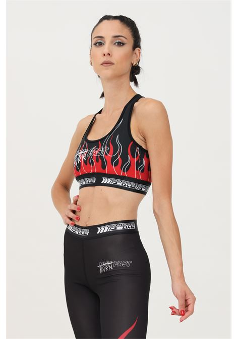 Black top by vision of super with flame print VISION OF SUPER | Top | VOS/ACTIVE TOPBLACK