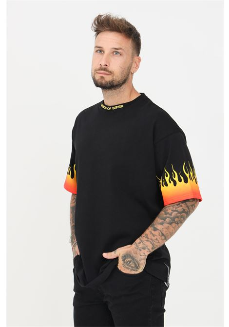 T-shirt uomo nero vision of super a manica corta VISION OF SUPER | T-shirt | VOS/B1REDSFUBLACK