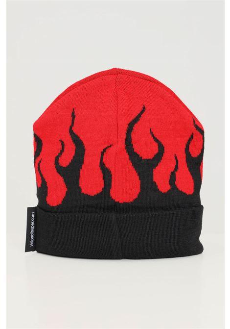 Cappello uomo rosso nero vision of super con fiamma VISION OF SUPER | Cappelli | VOS/BEANIEFLREDBLACK