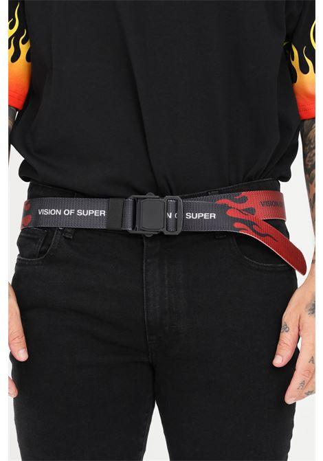 Cintura uomo rosso nero vision of super VISION OF SUPER | Cinture | VOS/BELTFLREDBLACK
