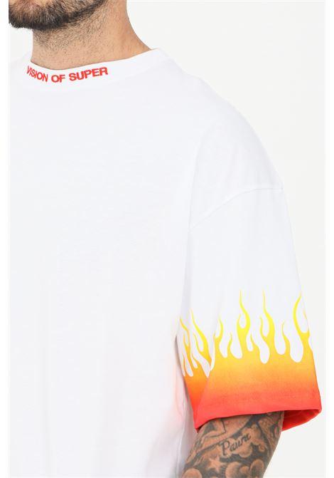 T-shirt uomo bianco vision of super a manica corta VISION OF SUPER | T-shirt | VOS/W1REDSFUWHITE