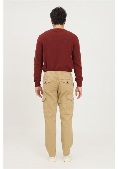 Pantaloni marrone uomo white sand casual con tasche cargo WHITE SAND | Pantaloni | 21WSU55-0602