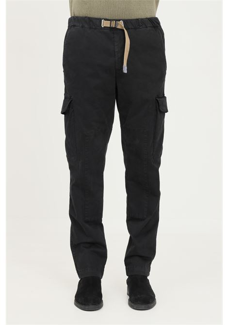 Pantaloni uomo nero white sand casual con tasche cargo WHITE SAND | Pantaloni | 21WSU55-06999