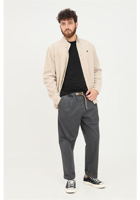 Pantaloni uomo grigio white sand casual con cintura elastica WHITE SAND | Pantaloni | 21WSU67-26734