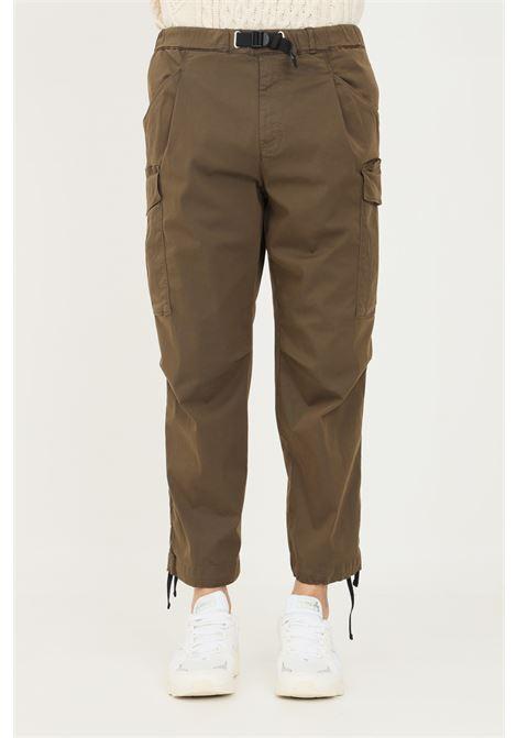 Pantaloni uomo verde white sand modello casual con fibbia in plastica WHITE SAND | Pantaloni | 21WSU69-60127