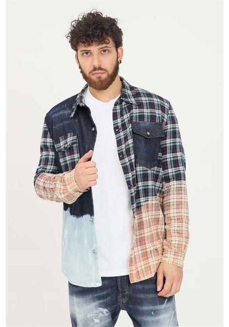 Camicia uomo fantasia quadri yes london modello casual YES LONDON | Camicie | XCM7098.