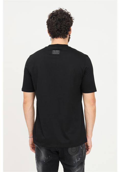 T-shirt uomo nero yes london a manica corta con applicazione frontale in velluto YES LONDON | T-shirt | XM3898NERO