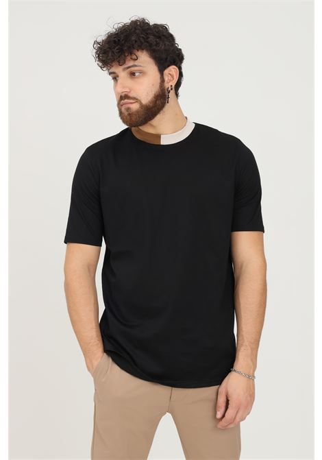 T-shirt uomo nero yes london basic a manica corta YES LONDON | T-shirt | XM3909.