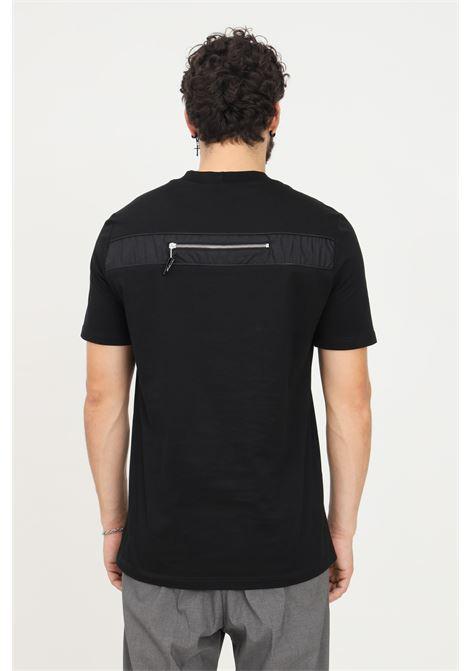 T-shirt uomo nero yes london a manica corta con zip sul retro YES LONDON | T-shirt | XM3925NERO
