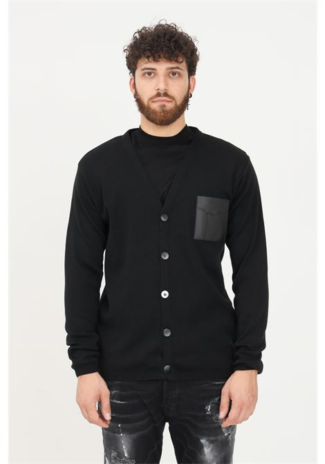 Black men's cardigan by yes london with buttons YES LONDON | Cardigan | XML3498.