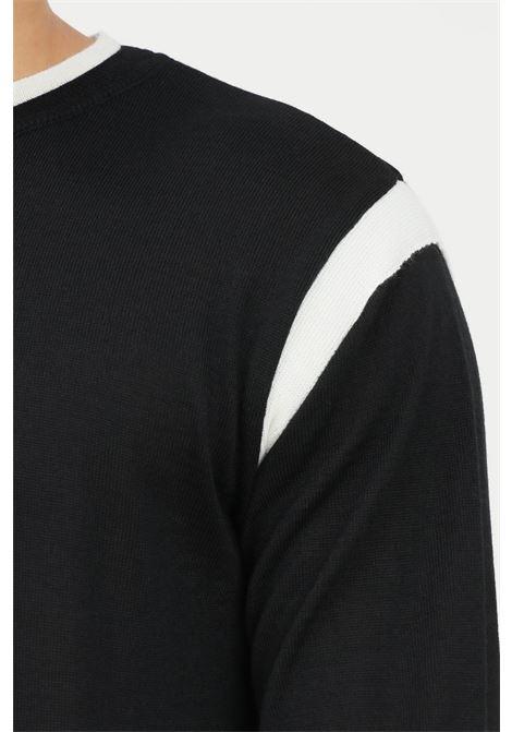 Maglioncino uomo nero yes london modello girocollo YES LONDON | Maglieria | XML3504NERO