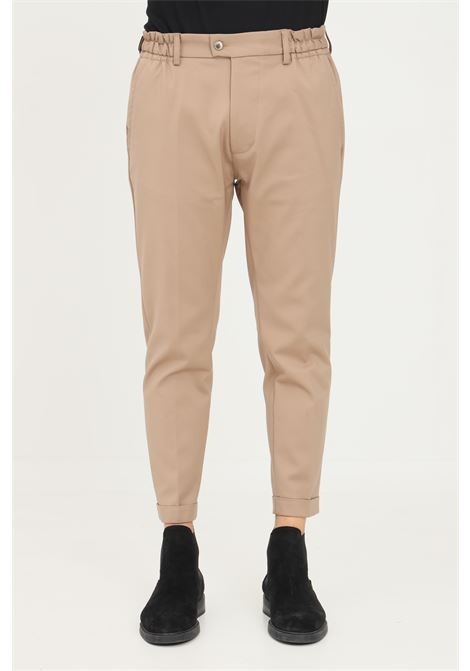 Pantaloni uomo cammello yes london modello chino YES LONDON | Pantaloni | XP3098CAMEL