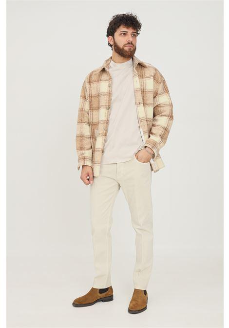Pantaloni uomo beige yes london basic YES LONDON | Pantaloni | XP3102GHIACCIO