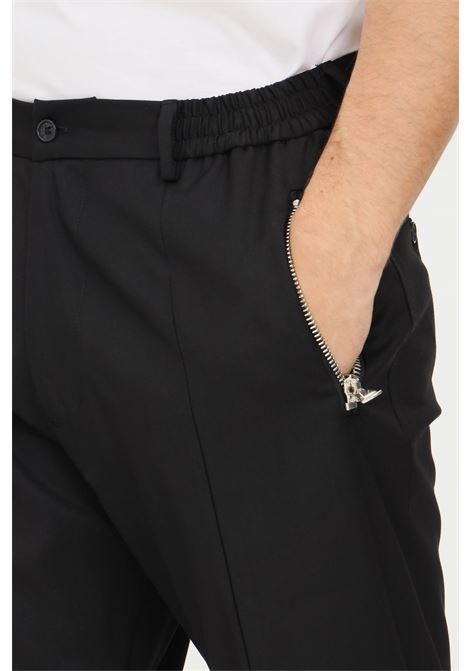 Pantaloni nero uomo yes london con elastico in vita YES LONDON | Pantaloni | XP3111NERO