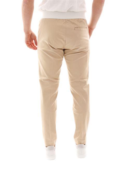 Pantalone Con Banda Laterale Pse70g GAZZARRINI | Pantaloni | PSE70GBEIGE