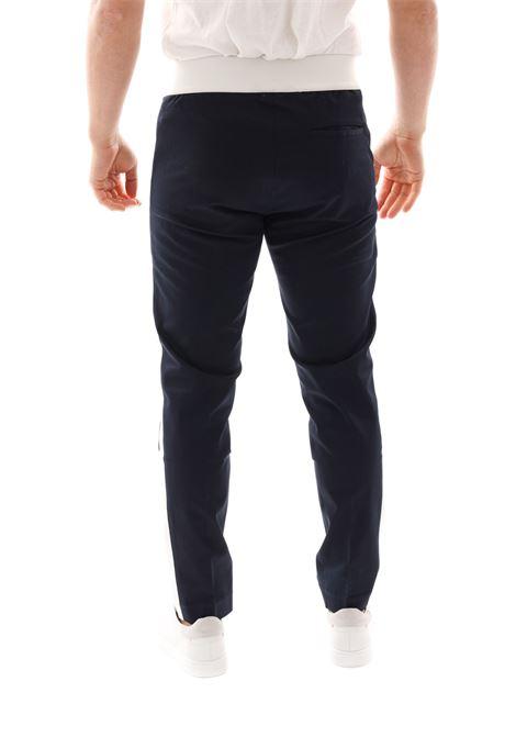 Pantalone Con Banda Laterale Pse70g GAZZARRINI | Pantaloni | PSE70GBLU