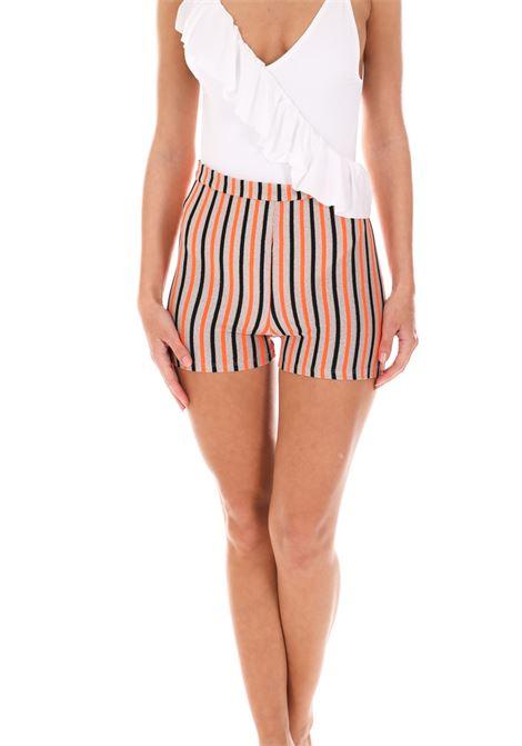 Shorts Con Elastico 1244 SIMONA A | Shorts | 1244ARANCIO/NERO