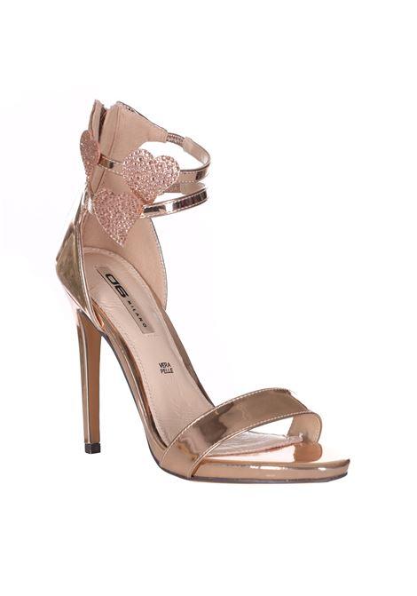 Sandalo Tinta Unita Con Applicazioni Glitter 06 MILANO   Party Shoes   SA0007NUDE