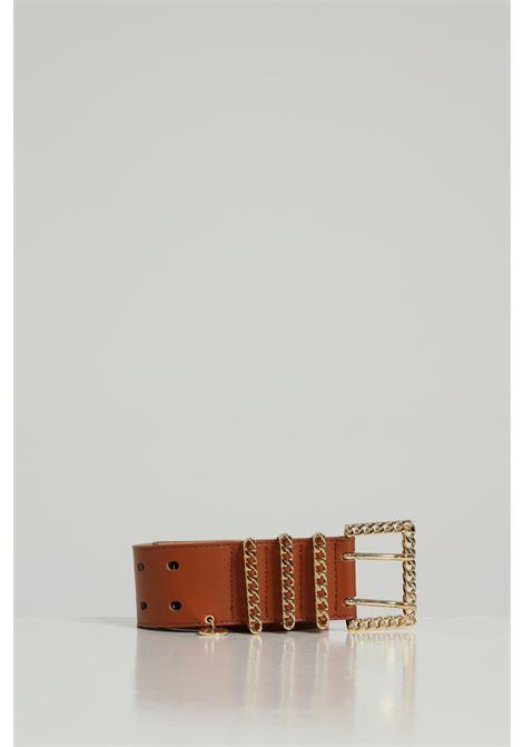 Cintura Tinta Unita Con Fibbia Oro ARGENTO ANTICO | Cinture | AA1523CUOIO