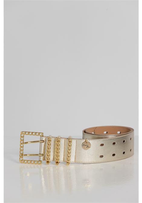 Cintura Tinta Unita Con Fibbia Oro ARGENTO ANTICO | Cinture | AA1523ORO