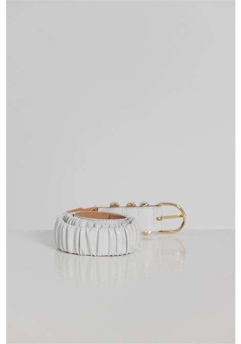 Cintura Tinta Unita Con Fibbia Oro ARGENTO ANTICO | Cinture | AA1538BIANCO