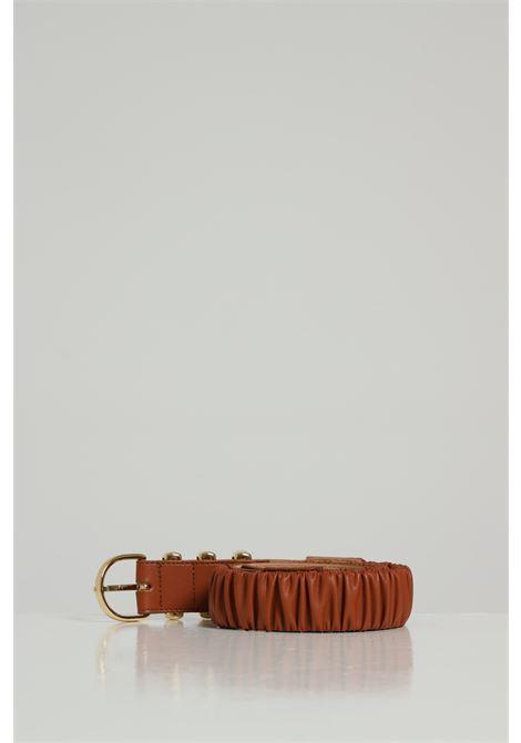 Cintura Tinta Unita Con Fibbia Oro ARGENTO ANTICO | Cinture | AA1538CUOIO
