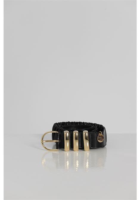 Cintura Tinta Unita Con Fibbia Oro ARGENTO ANTICO   Cinture   AA1538NERO