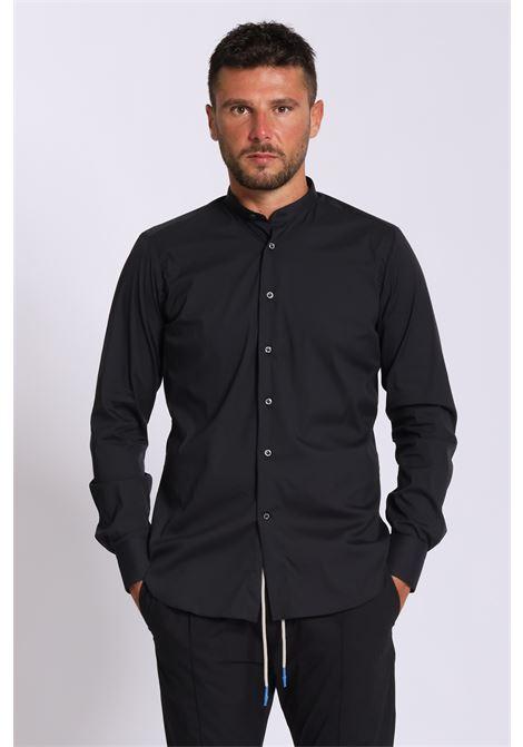 Camicia in tinta unita chiusura con bottoni, modello coreana BRANCACCIO CARUSO | Camicie | KS820/04UNI