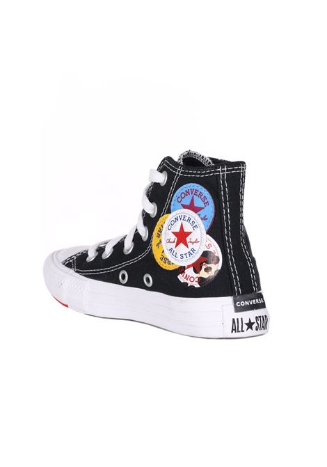 Sneakers Tinta Unita Con Decorazioni E Collo Alto CONVERSE | Sneakers | 366988CBLACK/RED/AMARI