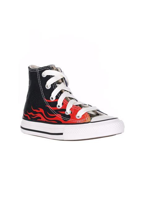 Sneakers Collo Alto Con Stampa Frontale E Laterale CONVERSE | Sneakers | 668007CBLACK/KHAKI