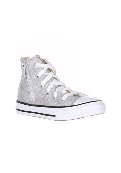 Sneakers Collo Alto Con Cerniera E Lacci CONVERSE   Sneakers   668021CSILVER/WHITE