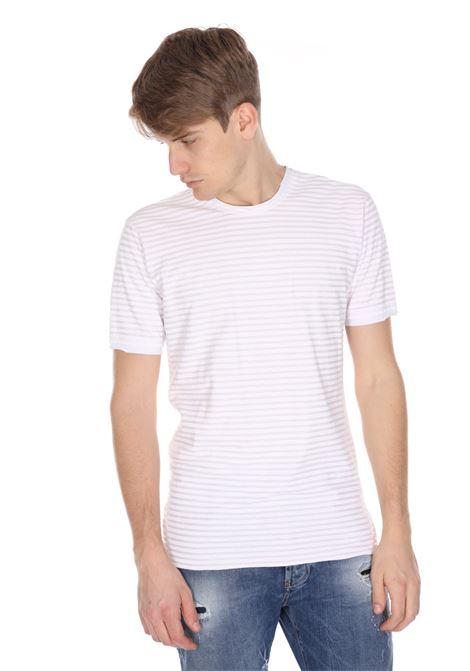 T-shirt Girocollo A Righe Orizzontali DANIELE ALESSANDRINI | T-shirt | M7351E80340022