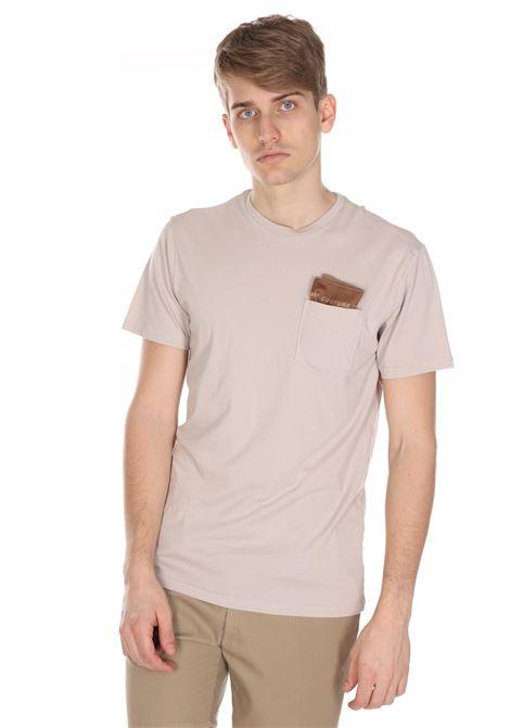T-shirt Tinta Unita Con Taschino DANIELE ALESSANDRINI | T-shirt | M7366E643400215