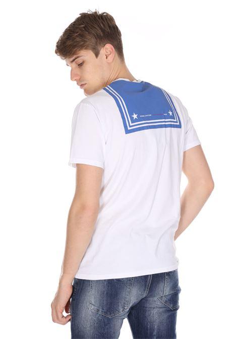 T-shirt Tinta Unita Con Stampa Sul Retro DANIELE ALESSANDRINI | T-shirt | M7368E64340022